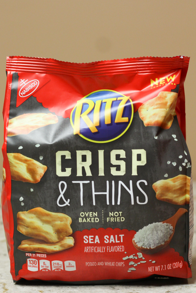 RITZ CRIPS & THINGS SEA SALT  7.1 oz -  $1.40    Compared to $2.98 from Walmart
