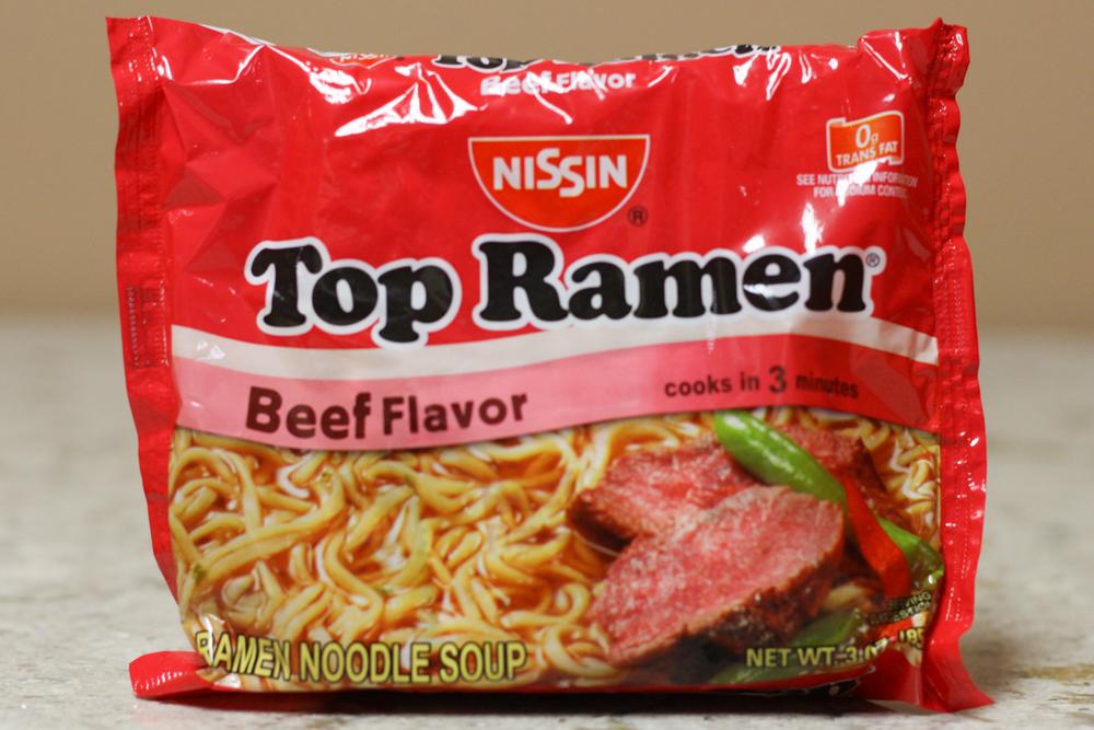 TOP RAMEN BEEF FLAVOR RAMEN NOODLE SOUP  3 oz -  $0.55    Compared to $1.99 at Amazon