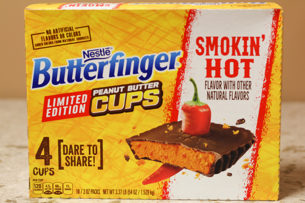 NESTLE BUTTERFINGER SMOKIN' HOT FLAVOR WITH OTHER NATURAL FLAVORS  18-3oz packs