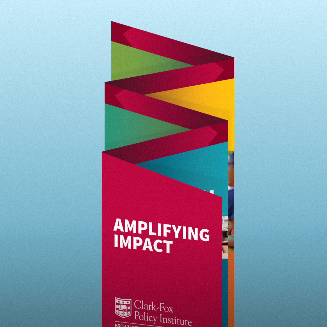 """Clark-Fox Policy Institute """"Amplifying Impact"""" – Launch event brochure"""