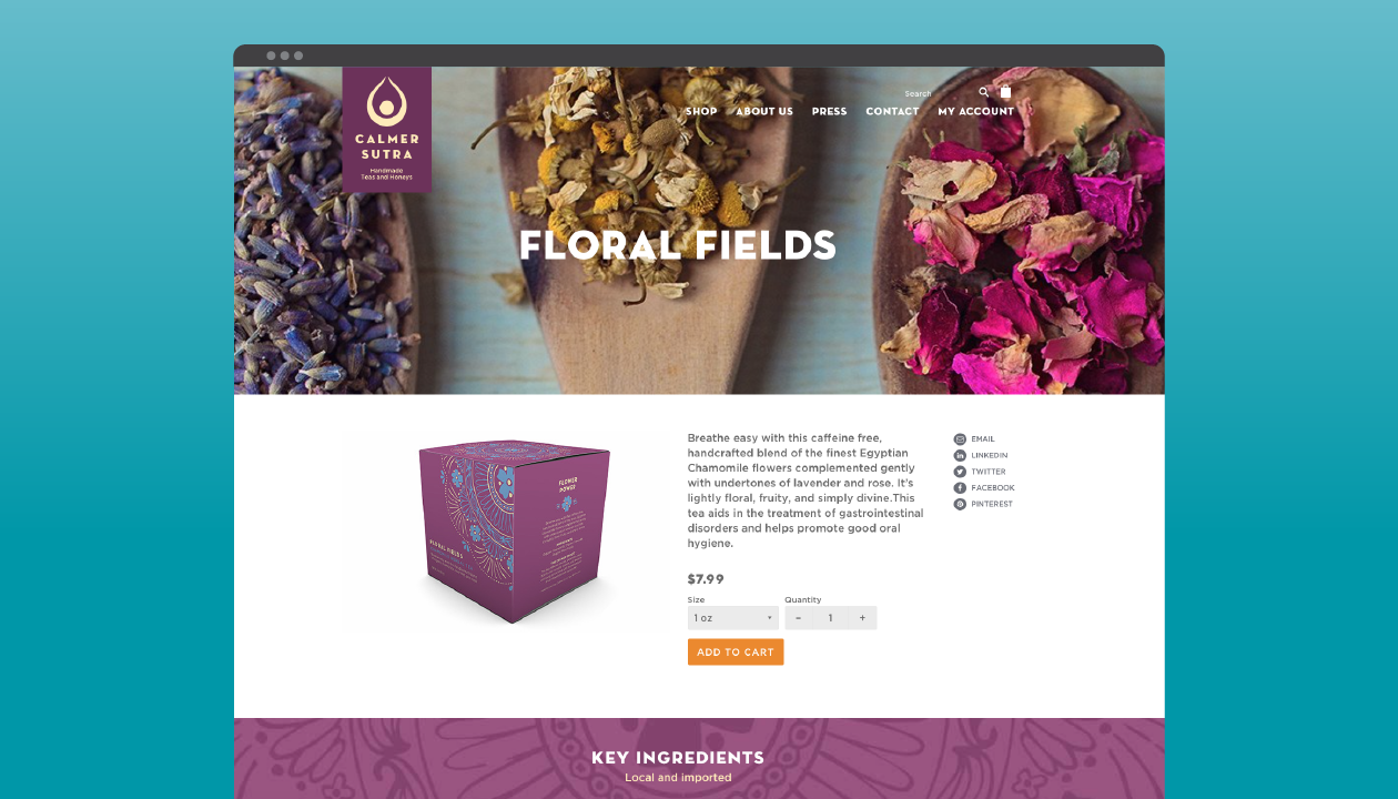 """Product page for """"Floral Fields"""""""