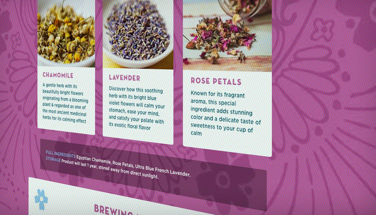 "Detail view ""Floral Fields"" ingredients"