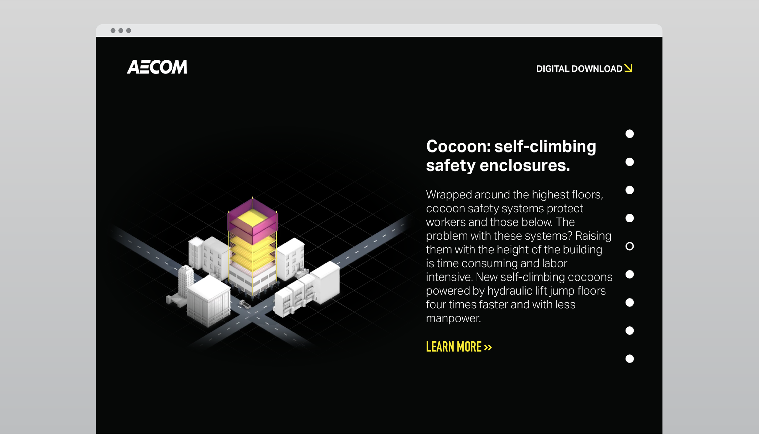 Animation: Self-climbing safety cocoon