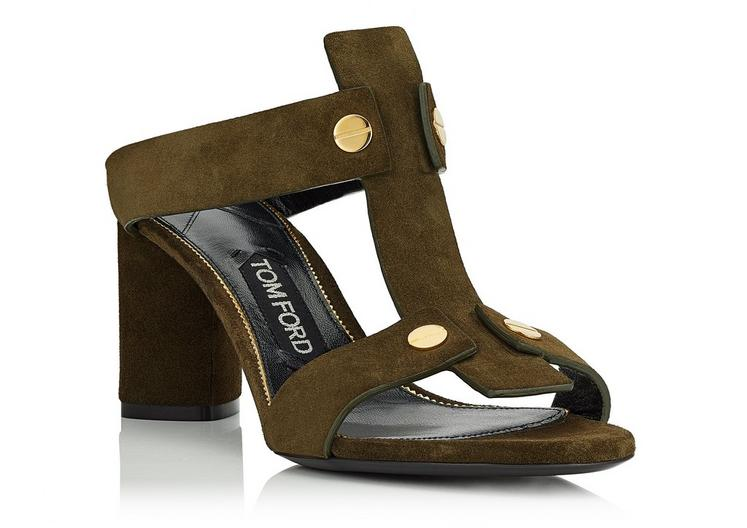 The T-Screw Sandal from Tom Ford is a true show stopper. Pair with culottes or skinny jeans for a night out with the girls.