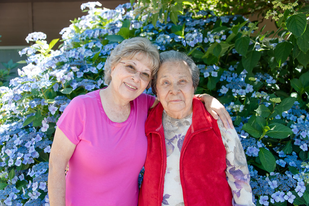 """""""Good care, professional staff.  A nice place!""""    - Cristine Stephens, with her mom, Maria Zarate"""