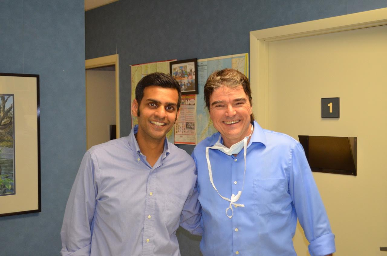 Dr. Patel with Dr. Doug Stein