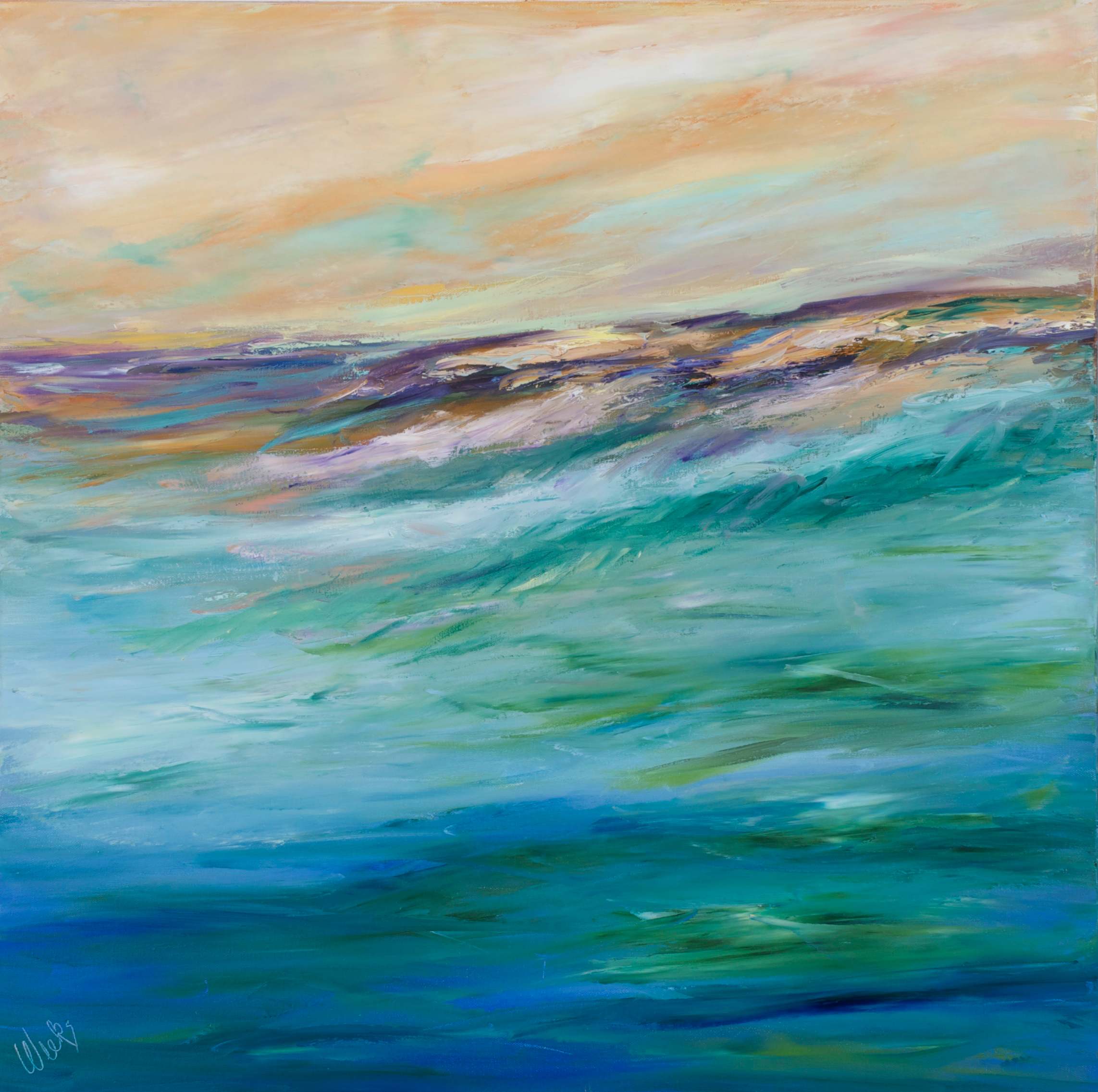 """A Little Wave Action"" - 30 x 30 inch"