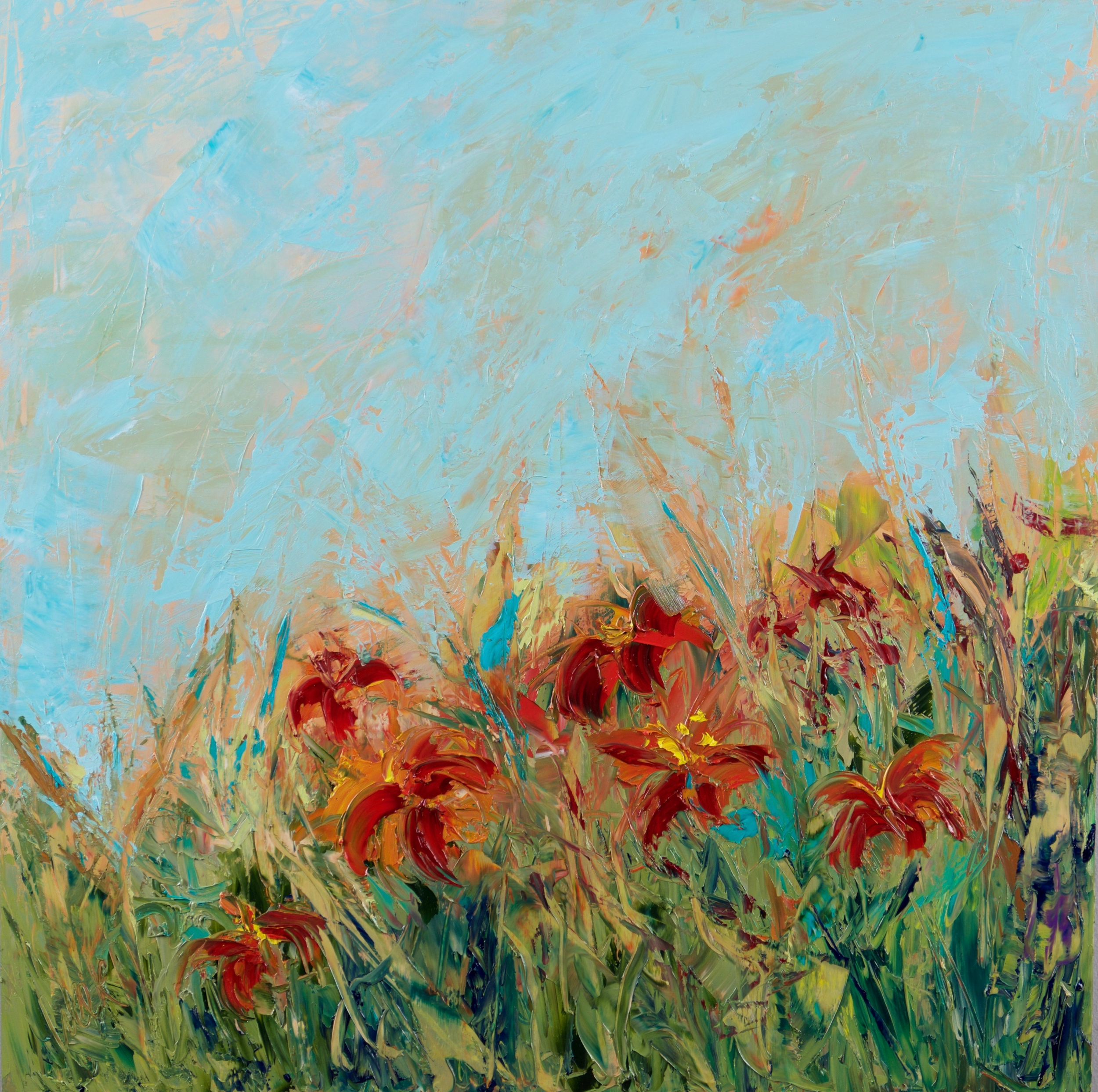 """Lillies of the Field"" - 24 x 24 inch"