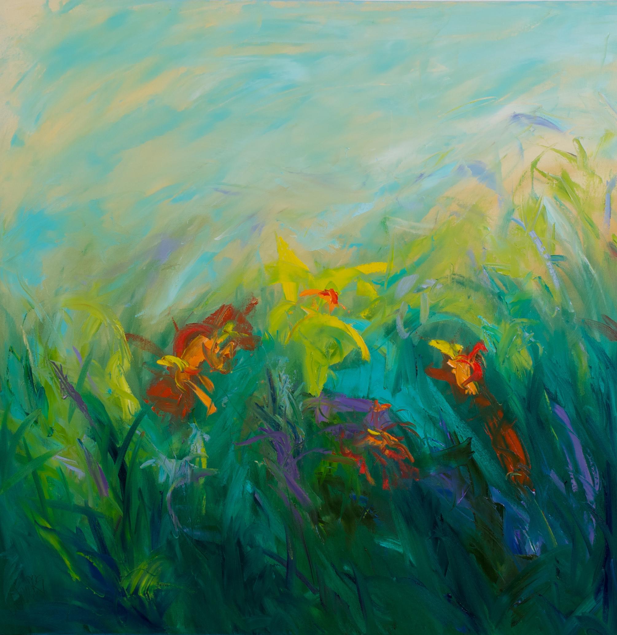 """""""Wildflowers"""" - 36 x 36 inch"""