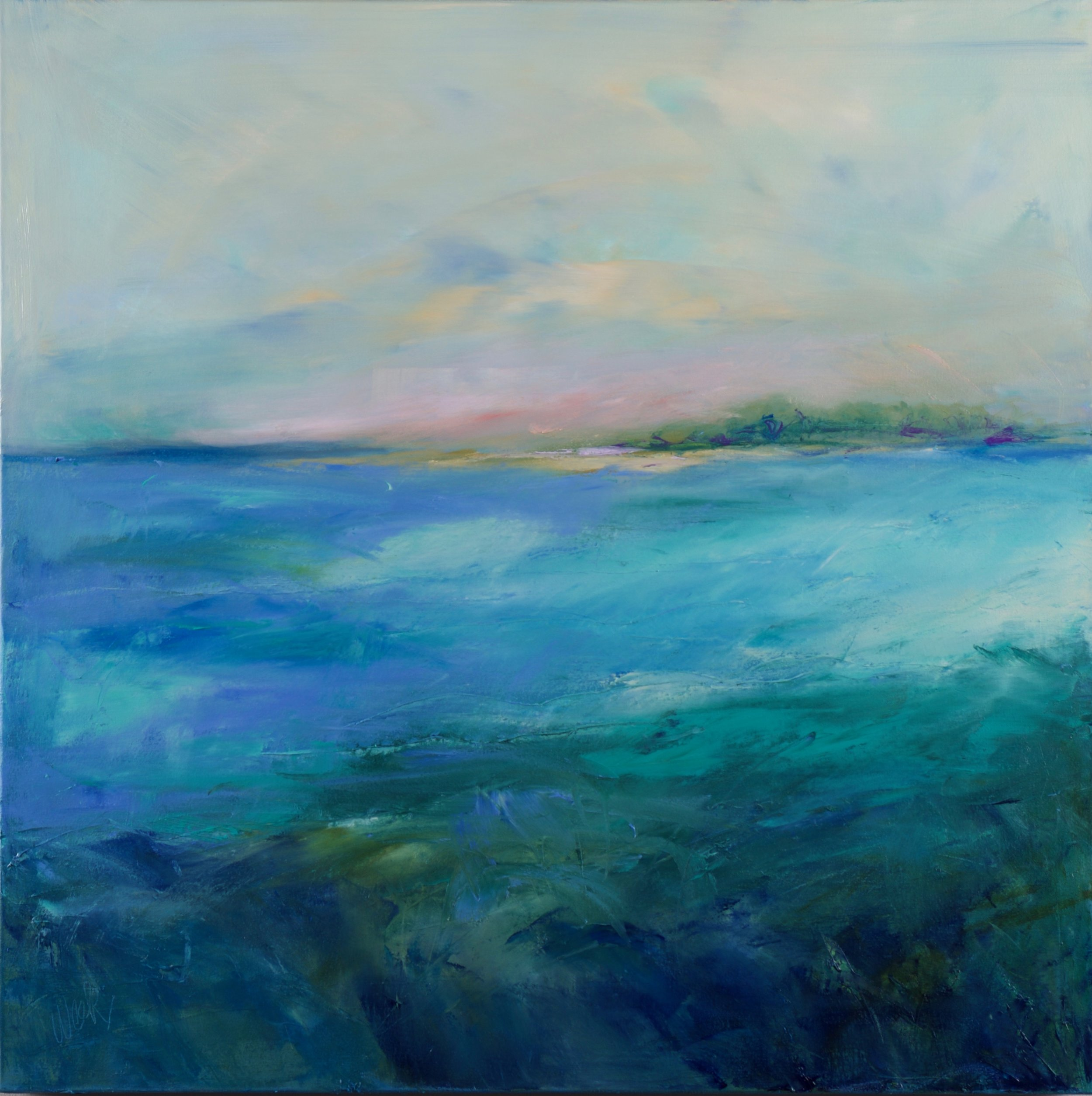 """Carolina Blue"" - 36 x 36 inches"