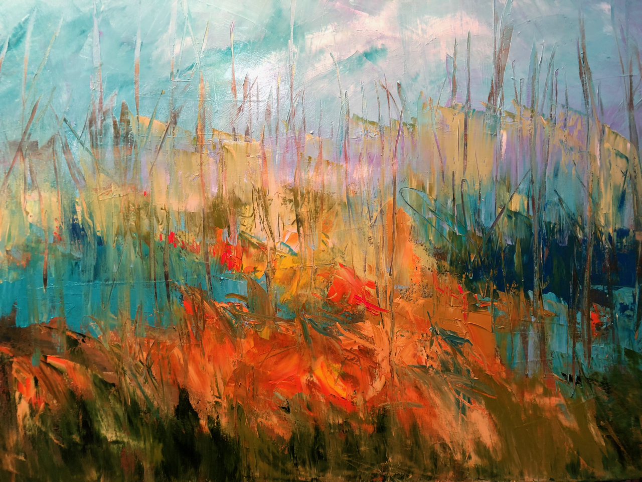 Down in the Valley 30 x 40 inches