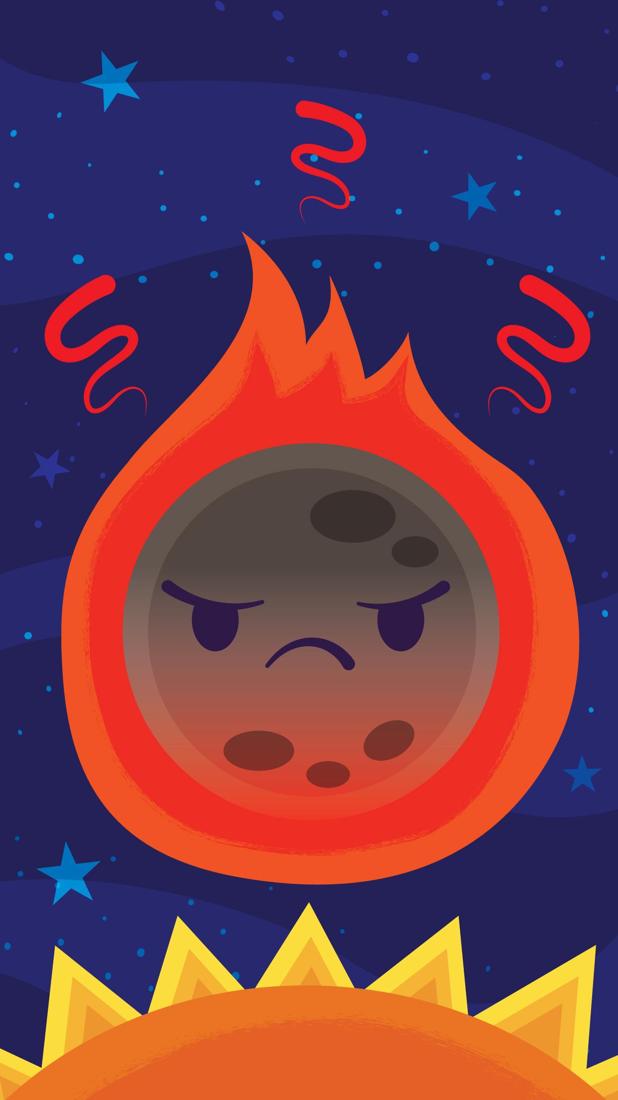 Flaming Mercury Wallpaper