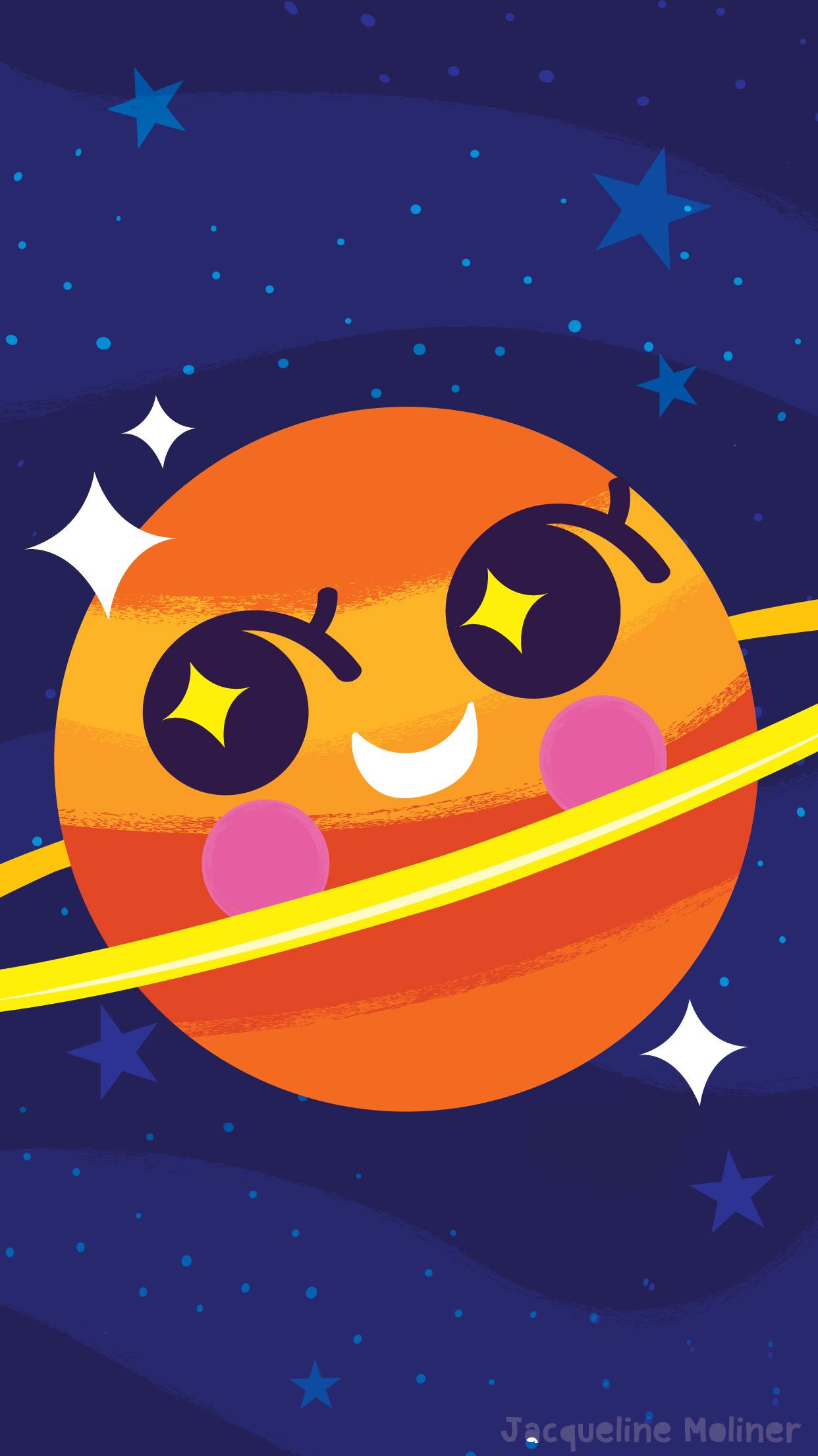 Sparkly Saturn Wallpaper