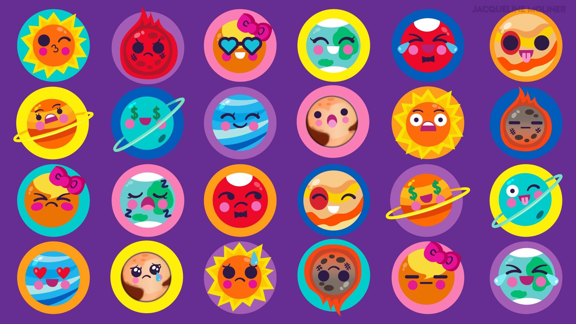 Starry Emojis Wallpaper