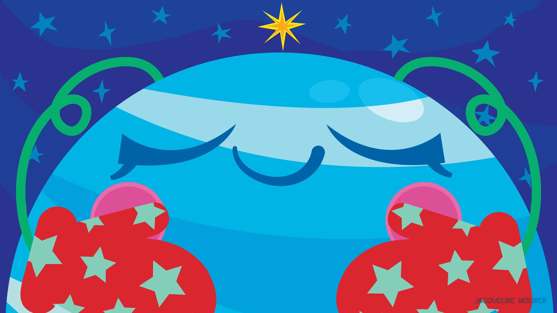Neptune Holiday Wallpaper