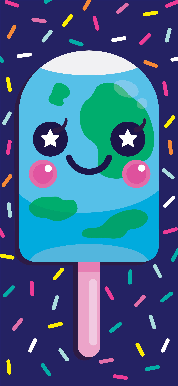 Earth Pop Mobile Wallpaper