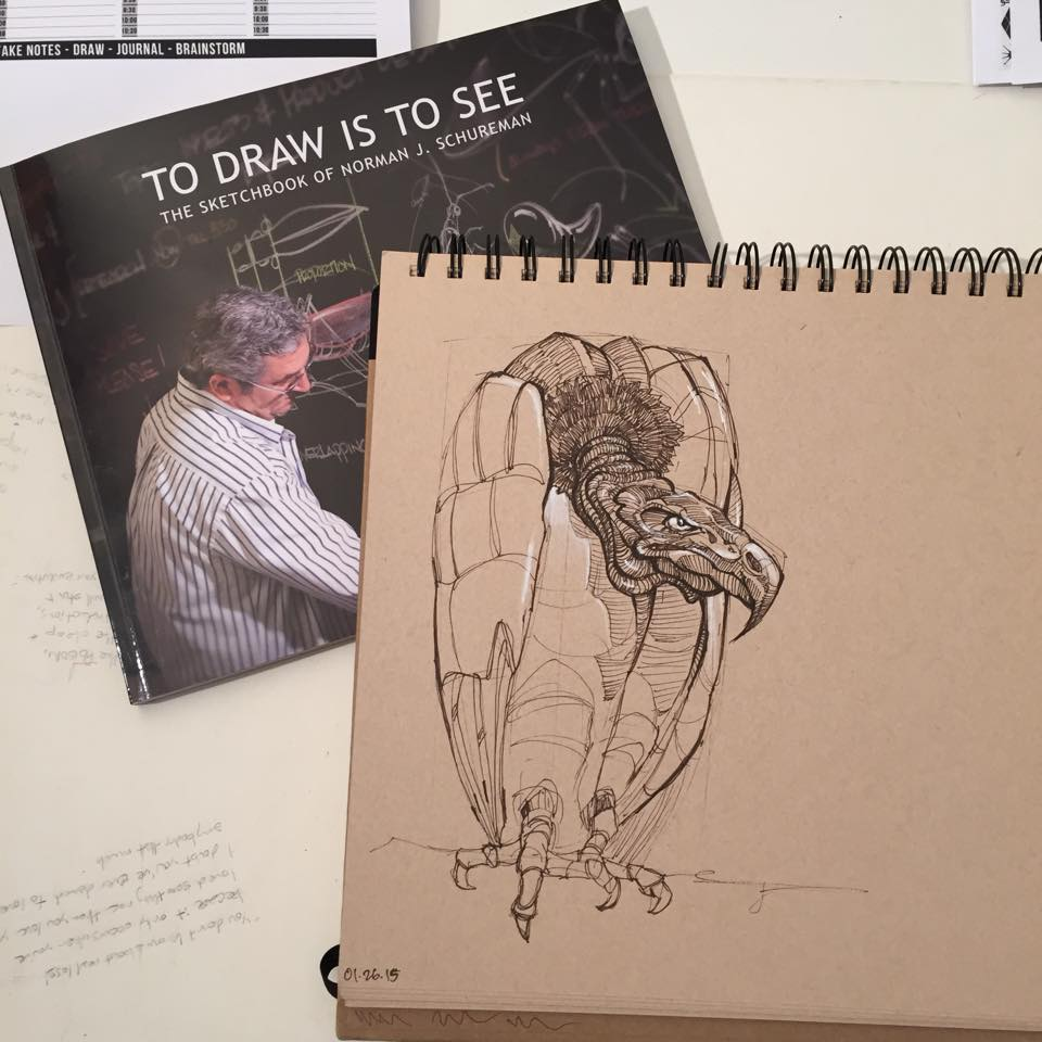 Norm Schureman, former Dynamic Sketching instructor at Art Center. Copying this book has been golden.