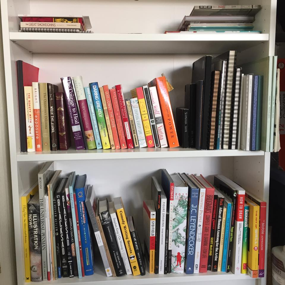 My growing bookshelf! Doesn't include all my undergrad soc books that are all up North. This is just my more recent collection, which mostly developed in the last 6 months. Trying my best to get thru them!
