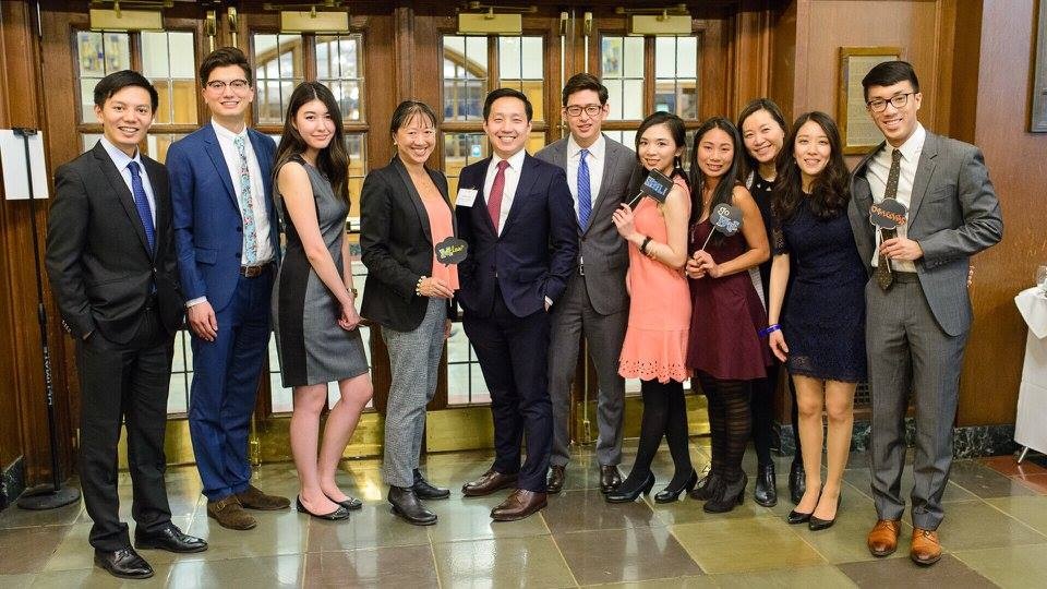 The Executive Board from 2016-2017 with the 2017 Origins Banquet keynote speaker May Liang '89. May is General Counsel and Chief Financial Officer for OpenConcept Systems.