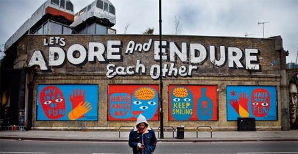 Brick Lane mural, 2013