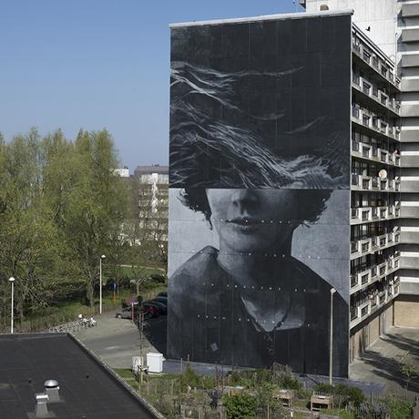 Mural for The Crystal Ship Public Art Festival- Oostende, Belgium 2017