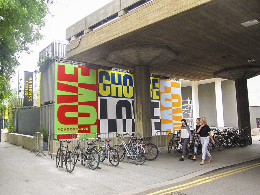 Lakwena's completed mural at Southbank Centre