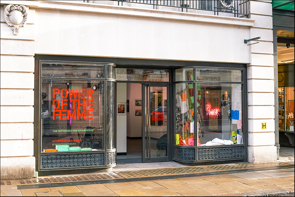 Power of the Femme pop-up exhibition at 192 Piccadilly, Princes Arcade