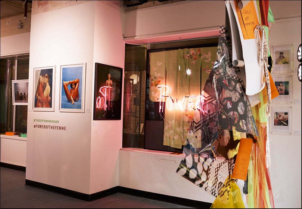 Installation by Louise Gray, 'Power' neon installation by Eve Haan aka @ halfaroastchicken, photogrpahy by Pamela Neal, Mary Rozzi, Michelle Du Xuan