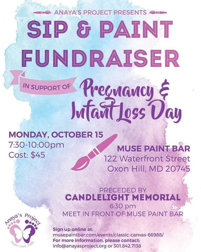 Sip and Paint Fundraiser Anayas Project