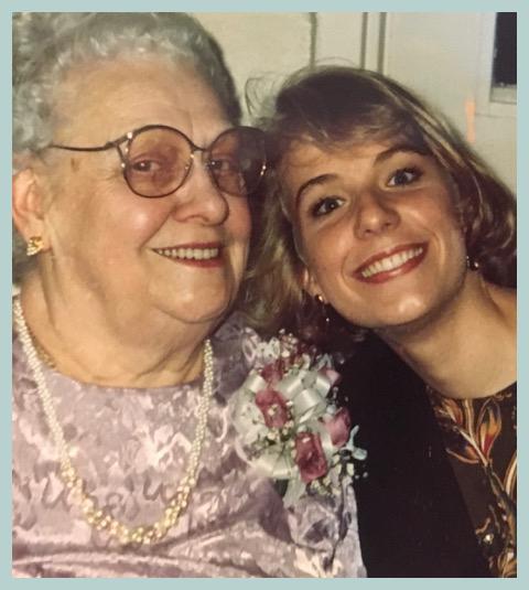 Amy with her grandma Lela