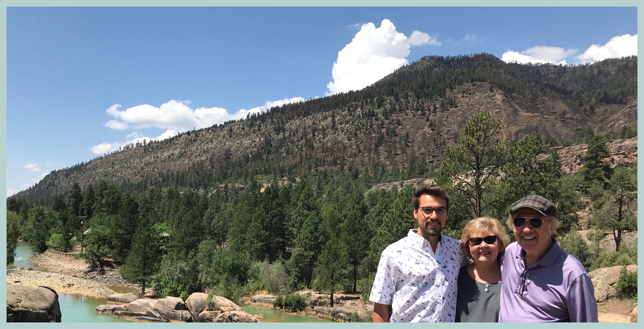 With environmentalist Lee in Colorado