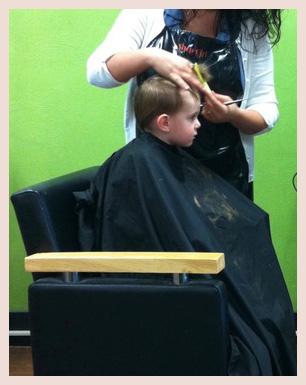 Liam's first hair cut.