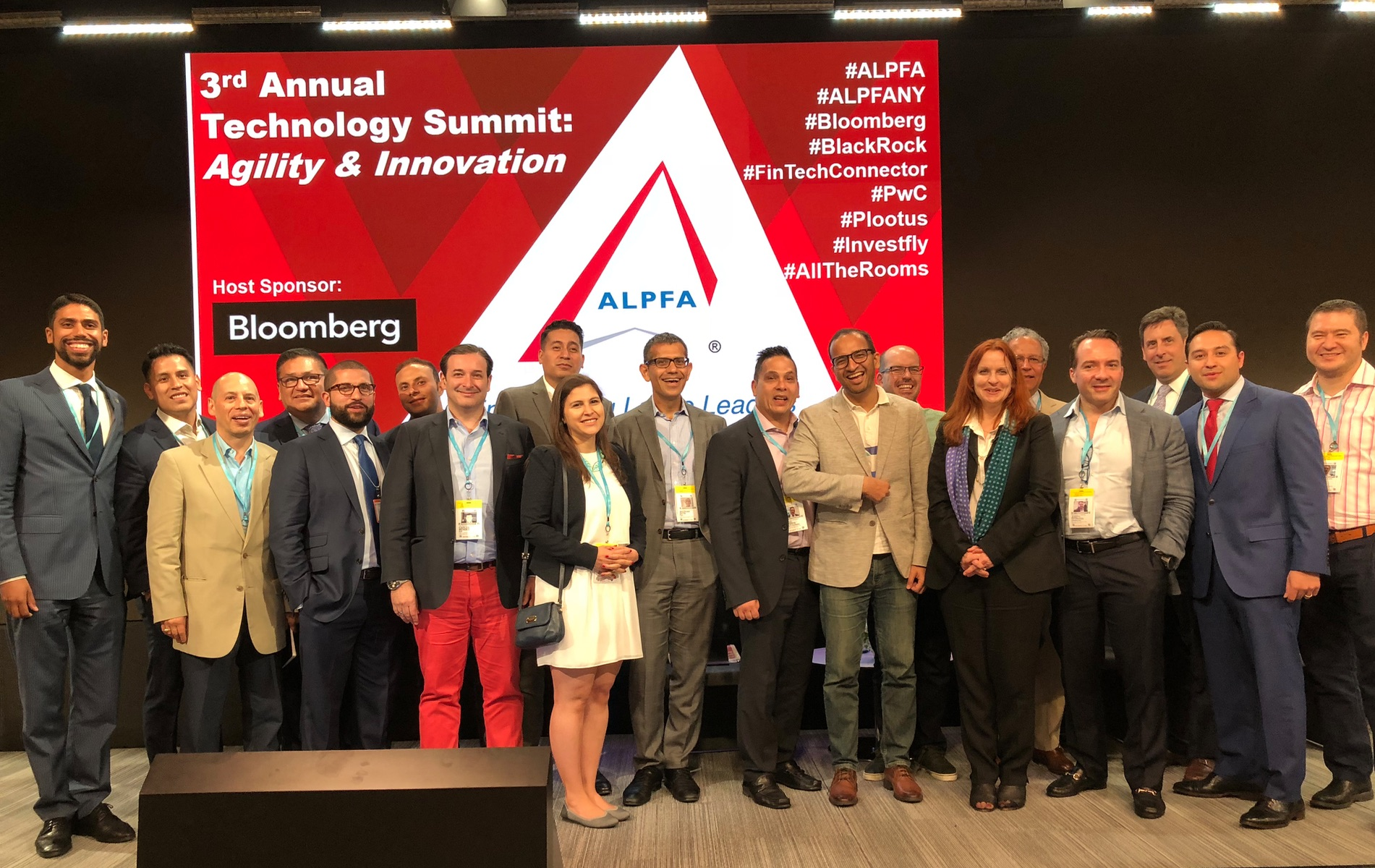 ALPFA New York Chapter Board Members, professional speakers, and FinTech Connector Innovator Members