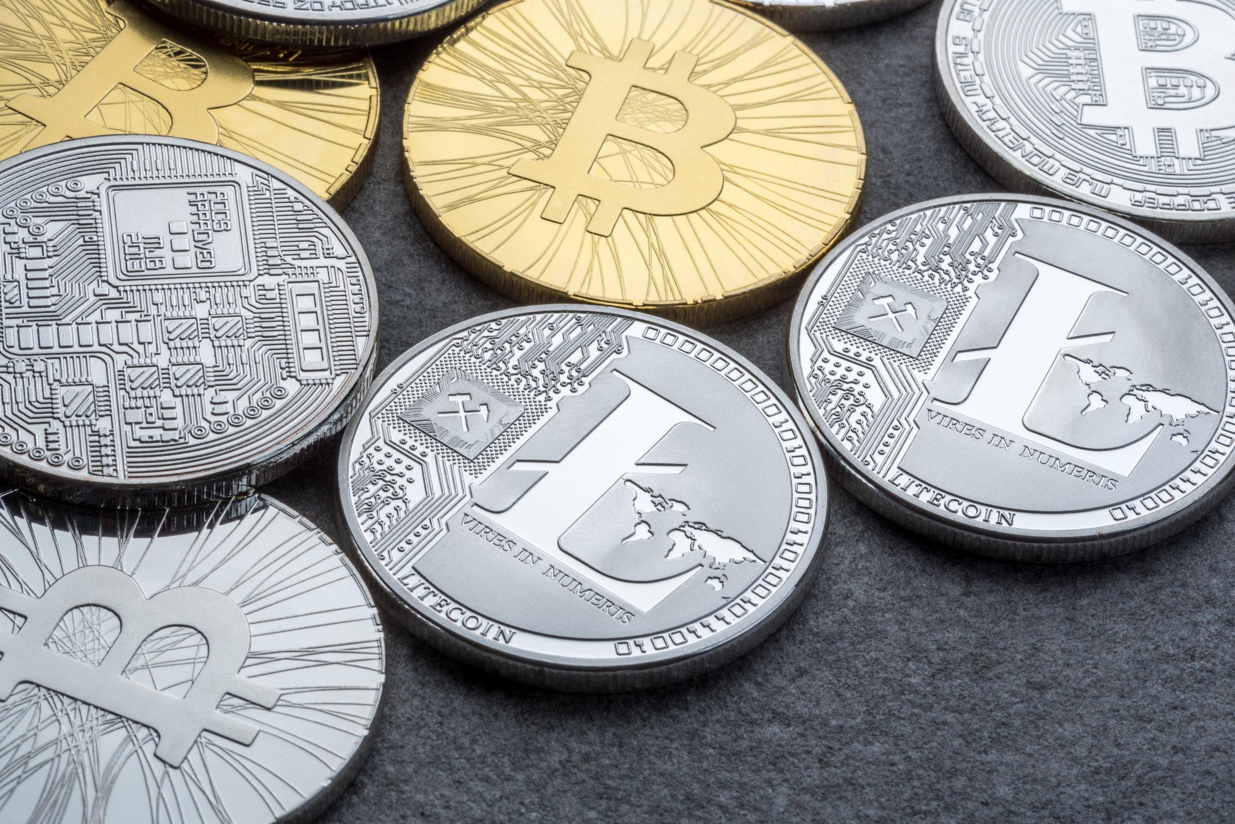 """Development of the Crypto Market - Bitcoin & Litecoin"" Source: © bychykhin, Adobe Stock - FILE #:    184933613"