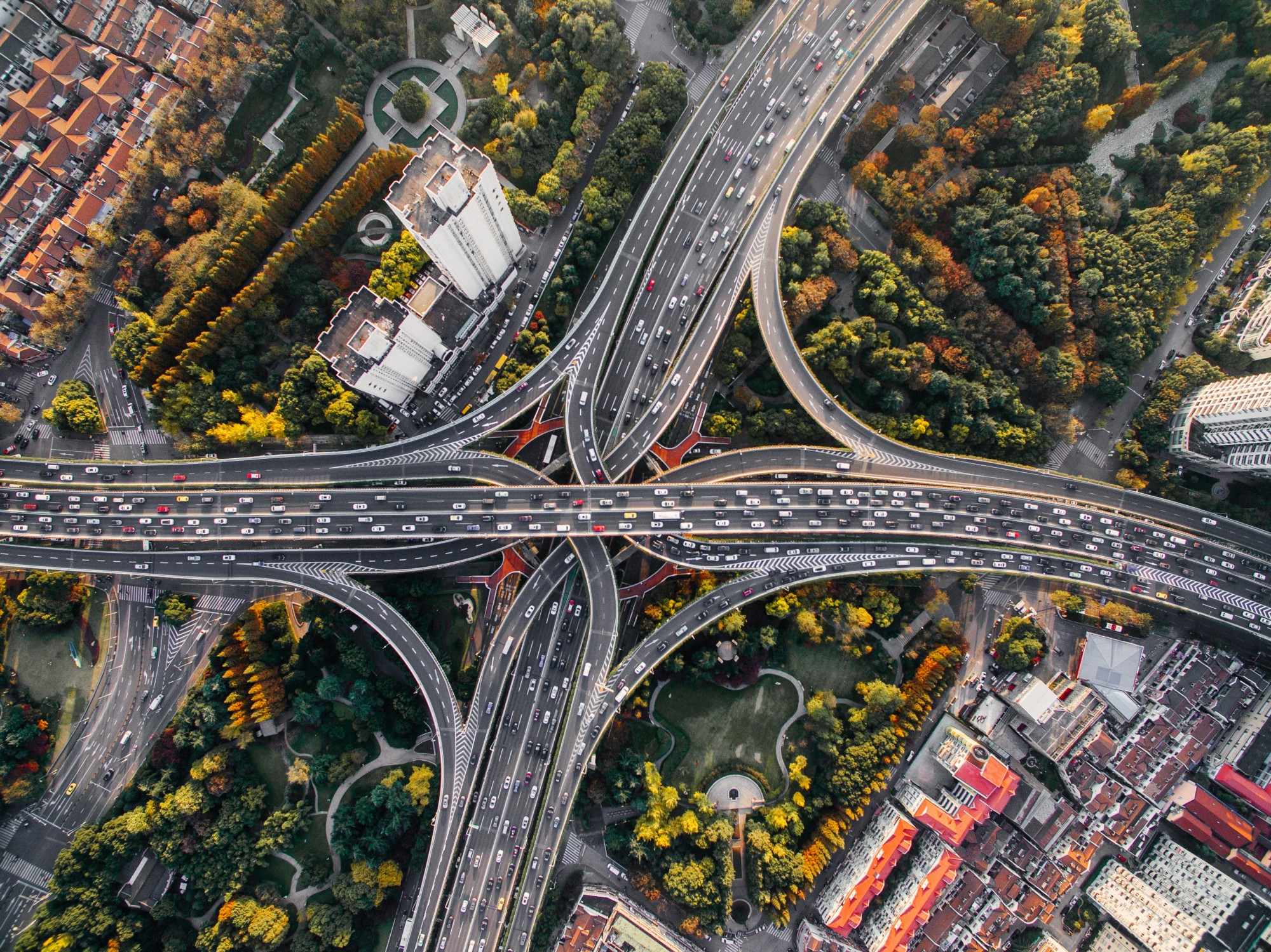 Aerial photography of concrete roads by  Denys Nevozhai  on Unsplash