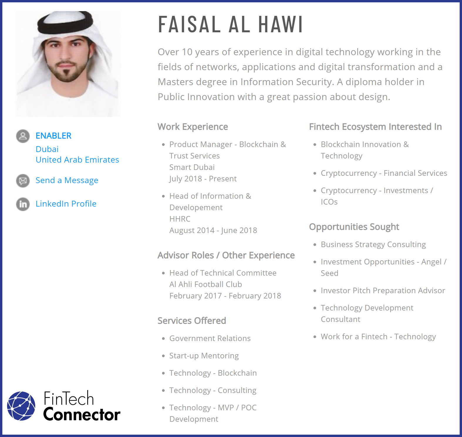 Connect with Faisal Al Hawi   - Creator of Encrypted