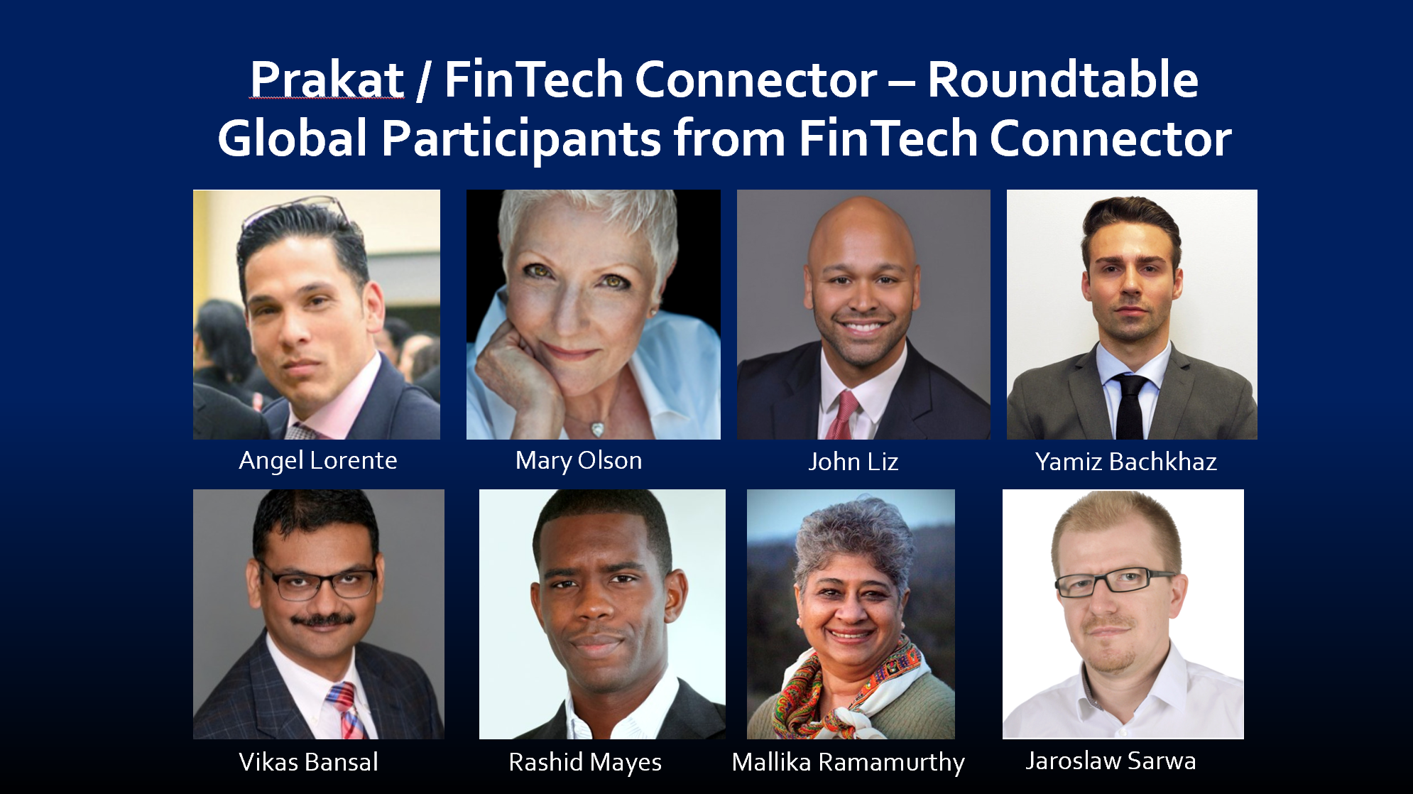 FinTech Connector Community Partners that participated on the call to welcome the Bangalore Fintech Community.