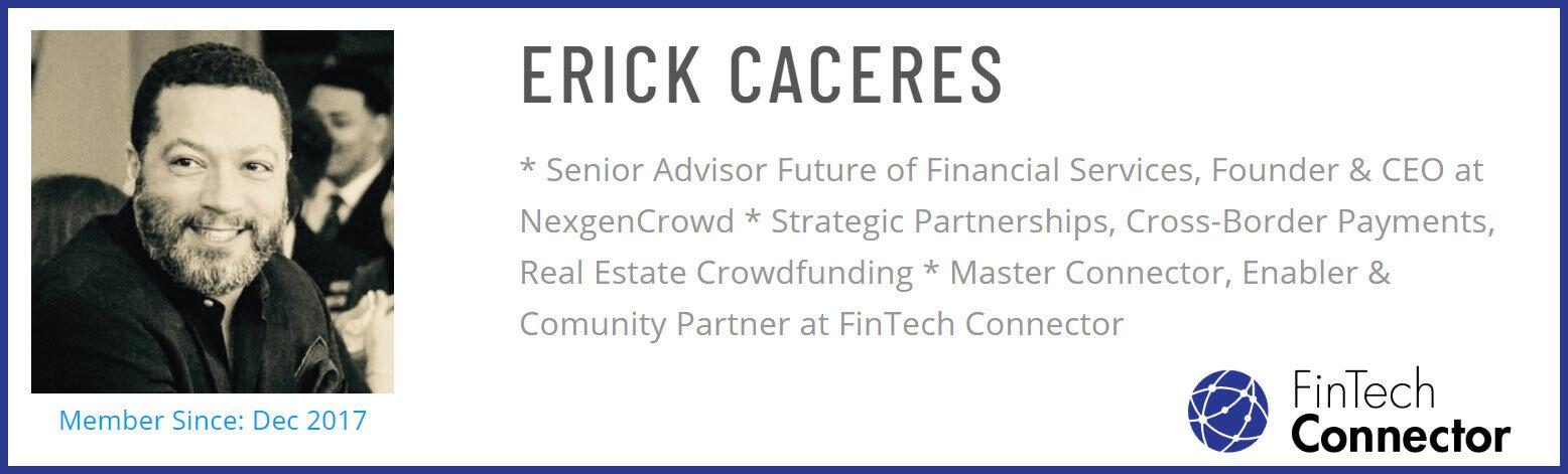 Connect with Erick Caceres via FinTech Connector
