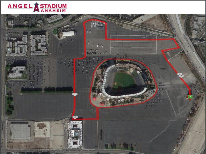 5k Course Map - Start and Finish under the Big A