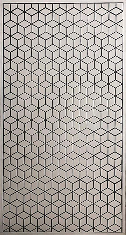 """White Geo Tile - 30"""" x 58"""" - $100"""