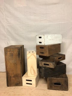 Apple Boxes ($40 each) The collection $750 (includes custom finished and the oversized box)