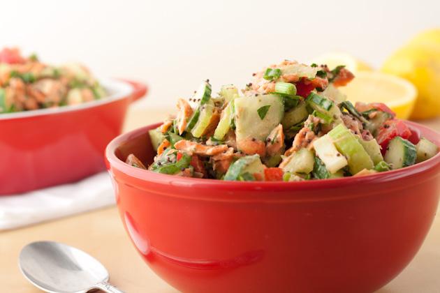 Dijon Herb salmon salad