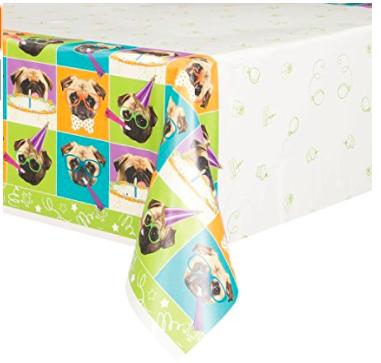 Pug Table Cloth