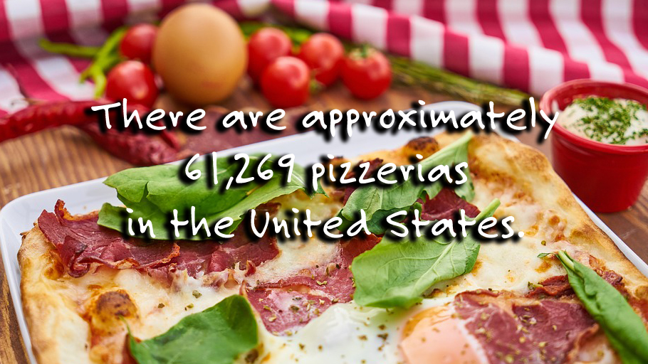 How many pizza places are there in the US: Pizza Fact