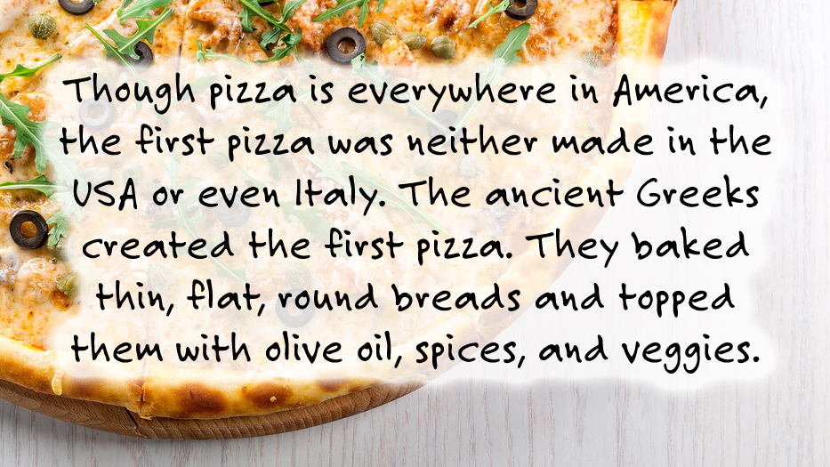 The First Pizza: pizza fact