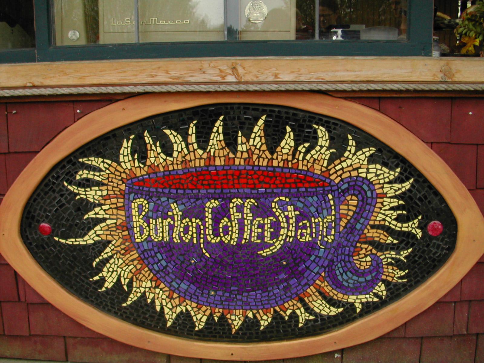 Mosaic Sign for Burton Coffee