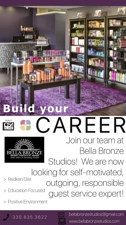 WANTED: Front Desk Sales & Guest Service ExpertMust enjoy & excel at sales offerings, and have a charismatic, friendly personality in a busy, fast paced environment.Full, or part time position for a career-minded person.Must be available for days/evenings and weekends minimum 18 hours per week.Please apply in person with resume to Bella Bronze Studios. -
