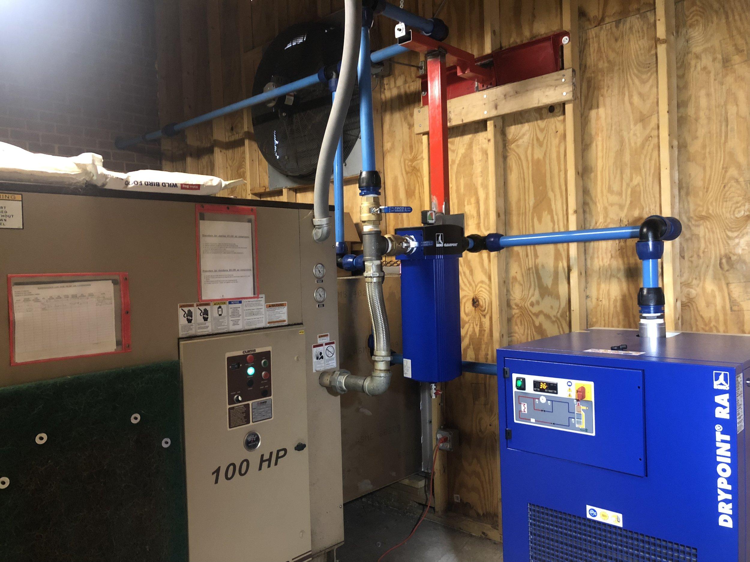 500 CFM Beko Air Dryer Installed at Machine Shop