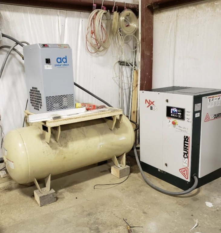 FS Curtis 20 HP Nx  Installed with AD100 Pneumatech Dryer