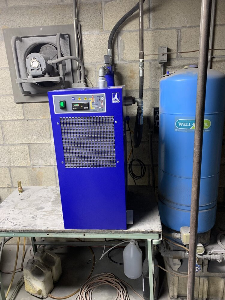 Beko 100 CFM refrigerated dryer installed at Caliber Collision